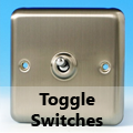 Brushed Matt Chrome - Toggle Switches