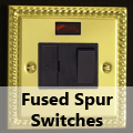 Georgian Brass - 13 Amp Fused Spur Switches