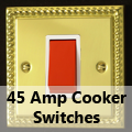 Georgian Brass - 45 Amp Cooker Switches