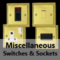 Georgian Brass - Miscellaneous Switches & Sockets