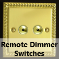Georgian Brass - Remote Dimmer Switches