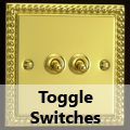 Georgian Brass - Toggle Switches