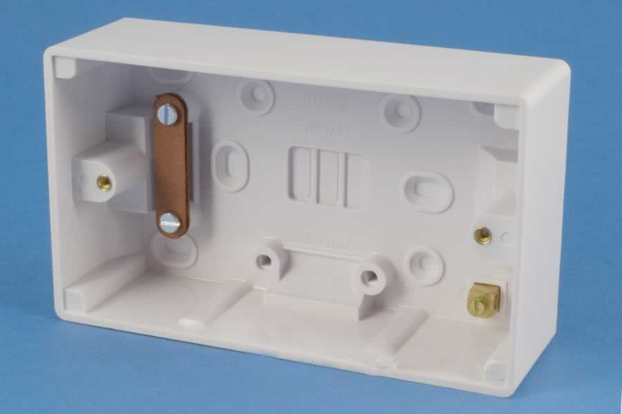 Get Gpat2g47 47mm Surface Mounted Pattress Wall Back Box 2