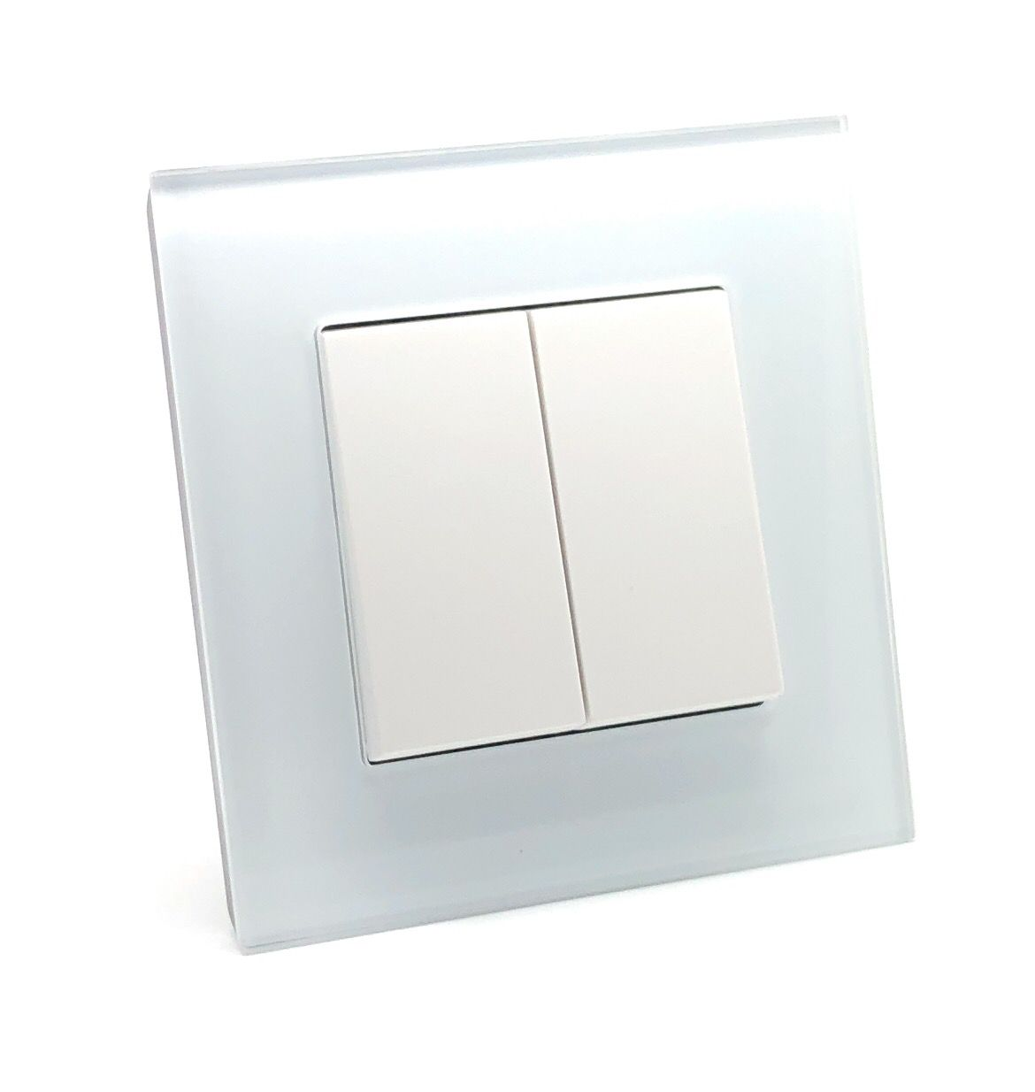 Rocker Light Switch >> Illucio 2 Gang 1 Or 2 Way 10 Amp On Off Rocker Light Switch White