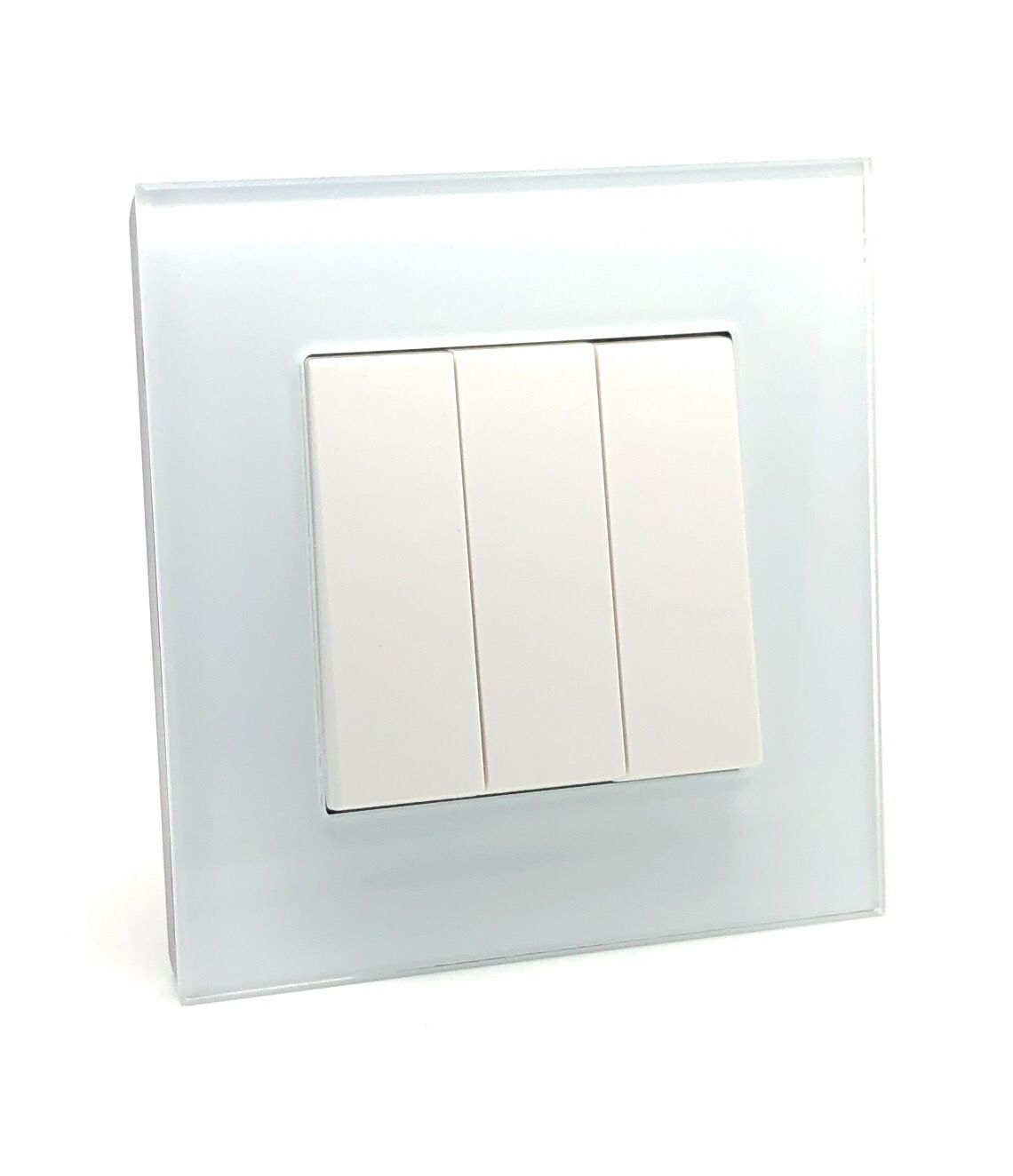 Rocker Light Switch >> Illucio 3 Gang 1 Or 2 Way 10 Amp On Off Rocker Light Switch White