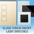 illucio Glass Touch On / Off Light Switches
