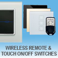 illucio Wireless Remote & Touch On/Off Light Switches