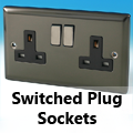 Iridium Black - 13 Amp Switched Plug Sockets
