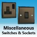 Iridium Black - Miscellaneous Switches & Sockets