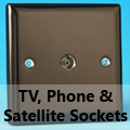 Iridium Black - TV, Phone & Satellite Sockets