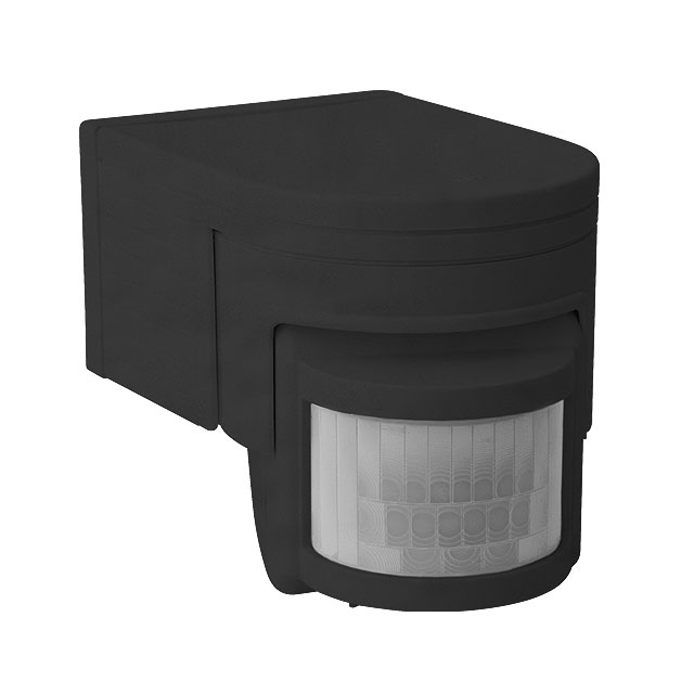 Kanlux Black Plastic Slick Ip44 Pir Motion Movement Sensor