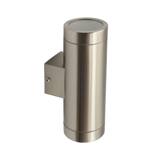 Kanlux magra exterior outdoor stainless steel gu10 ip44 up for Applique exterieur up down