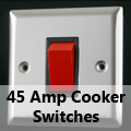 Mirror Chrome - 45 Amp Cooker Switches