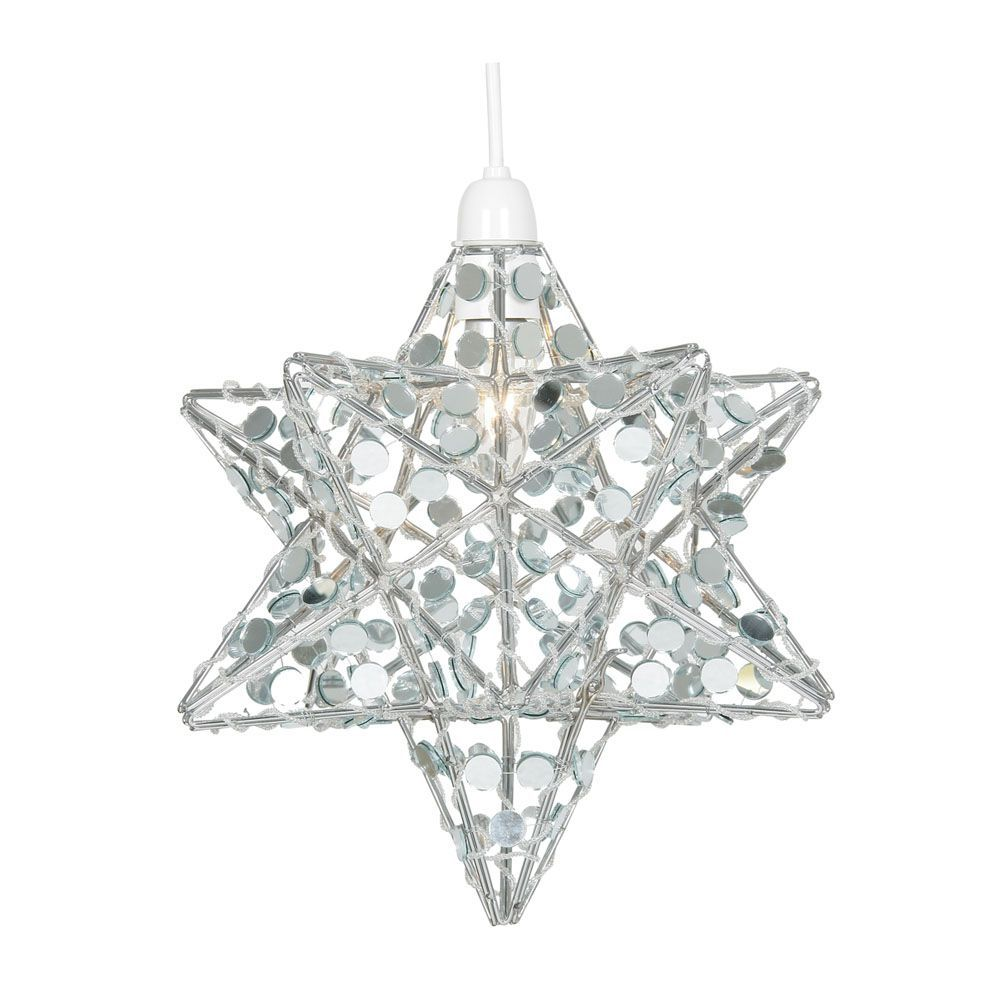 oaks lighting decorative christmas chrome star with mirrors