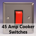 Pewter - 45 Amp Cooker Switches