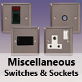 Pewter - Miscellaneous Switches & Sockets
