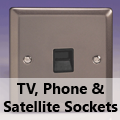 Pewter - TV, Phone & Satellite Sockets