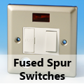 Satin Chrome - 13 Amp Fused Spur Switches
