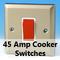 Satin Chrome - 45 Amp Cooker Switches