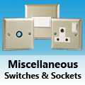 Satin Chrome - Miscellaneous Switches & Sockets