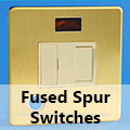 Screwless Brushed Brass - 13 Amp Fused Spur Switches