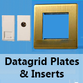 Screwless Brushed Brass - Datagrid Plates & Inserts