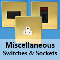 Screwless Brushed Brass - Miscellaneous Switches & Sockets