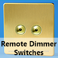 Screwless Brushed Brass - Remote Dimmer Switches