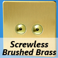 Screwless Brushed Brass Remote/Touch Dimmer Switches