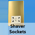 Screwless Brushed Brass - Shaver Socket