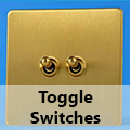 Screwless Brushed Brass - Toggle Switches