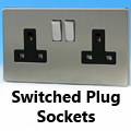 Screwless Brushed Matt Chrome - 13 Amp Plug Sockets