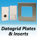 Screwless Brushed Matt Chrome - Datagrid Plates & Inserts