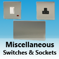 Screwless Brushed Matt Chrome - Miscellaneous Switches & Sockets