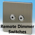 Screwless Brushed Matt Chrome - Remote Dimmer Switches