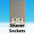Screwless Brushed Matt Chrome - Shaver Sockets