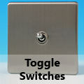 Screwless Brushed Matt Chrome - Toggle Switches