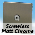 Screwless Matt Chrome Remote/Touch Dimmer Switches