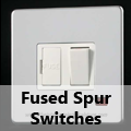 Screwless Mirror Chrome - 13 Amp Fused Spur Switches