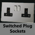 Screwless Mirror Chrome - 13 Amp Plug Sockets