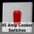 Screwless Mirror Chrome - 45 Amp Cooker Switches