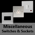 Screwless Mirror Chrome - Miscellaneous Switches & Sockets