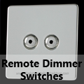 Screwless Mirror Chrome - Remote Dimmer Switches