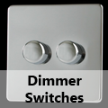 Screwless Mirror Chrome - Standard Dimmer Switches