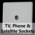 Screwless Mirror Chrome - TV, Phone & Satellite Sockets
