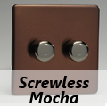 Screwless Mocha Standard Dimmer Switches