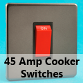 Screwless Pewter - 45 Amp Cooker Switches