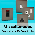 Screwless Pewter - Miscellaneous Switches & Sockets