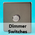 Screwless Pewter - Standard Dimmer Switches