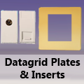 Screwless Polished Brass - Datagrid Plates & Inserts